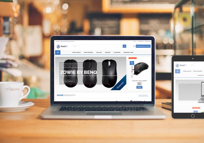 Wdrożenie layoutu sklepu internetowego